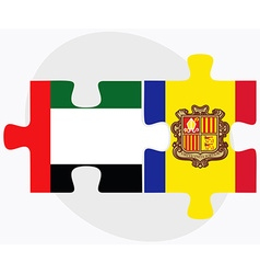 United arab emirates and andorra flags vector