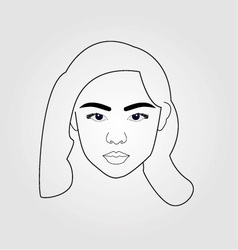 Girl drawn using lines vector