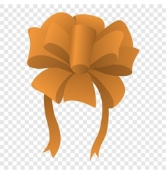 Cartoon bow icon vector