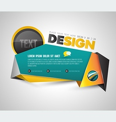 Modern banner origami 3d style vector