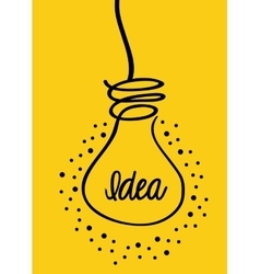 Idea and think different design vector