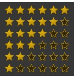 Simple rating stars on dark background vector