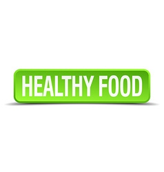 Healthy food green 3d realistic square isolated vector