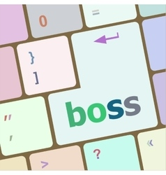 Boss word on keyboard key notebook computer vector