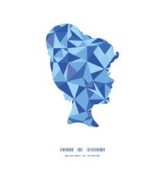 blue triangle texture girl portrait silhouette vector image vector image