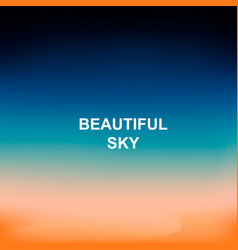 Blurred nature background words beautiful sky in vector