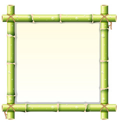 Border design with bamboo stem vector