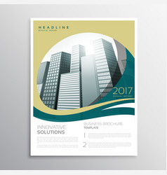 Company annual report brochure flyer template vector