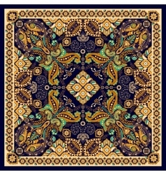 Design for square pocket shawl textile paisley vector