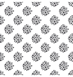Dotted floral seamless pattern vector