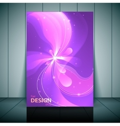 Floral transparent flyer banner or cover design vector