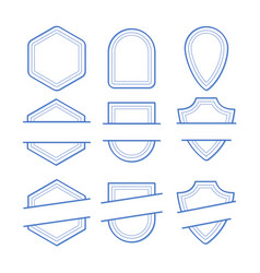 geometric frames set vector image
