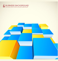 Geometrical 3d abstract background vector