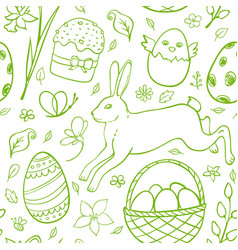 Hand drawn easter pattern vector