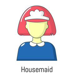 housemaid icon cartoon style vector image