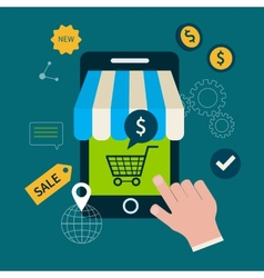 Icons for online shopping vector image