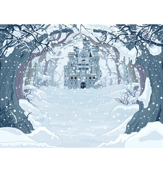 Magic winter castle vector