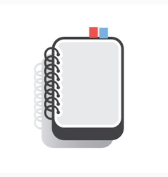 Notebook flat vector