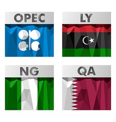 OPEC countries flags vector image