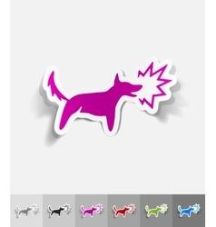 realistic design element dog barking vector image