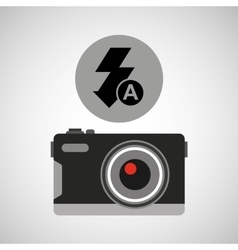 retro camera photographic flash icon vector image