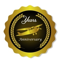 seal quality years anniversary vector image vector image