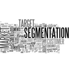 Segment word cloud concept vector
