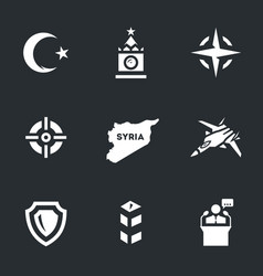 Set of plane crash icons vector