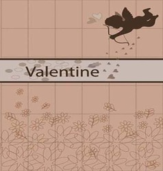 Valentine cards brown vector image