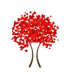 Valentine heart tree vector