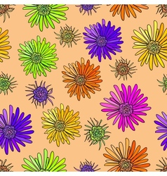 Decoration element floral style seamless vector