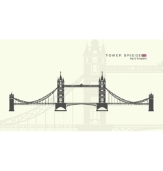 Tower bridge in london vector
