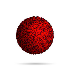 Red fur ball isolated on white vector