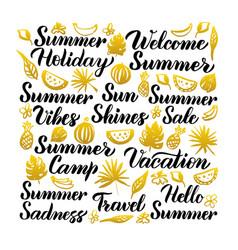 Summer handwritten lettering vector