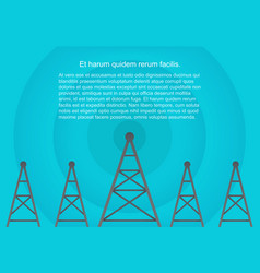 Telecommunications cellular towers in volumetric vector