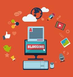 Blog concept vector