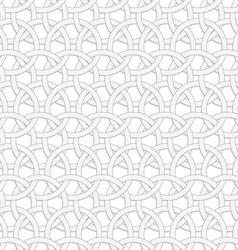 3d interlocking circles on white vector
