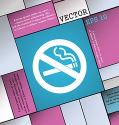 No smoking icon sign modern flat style for your vector