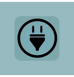 Pale blue plug sign vector image