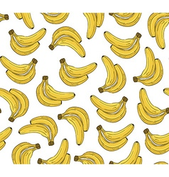 Seamless pattern with banana hand drawn vector