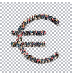 Euro currency people 3d vector