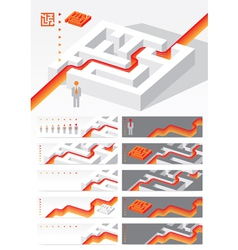 Business concept Maze vector image