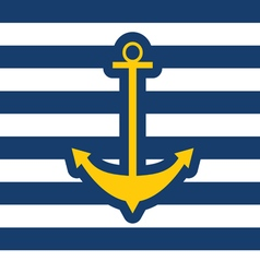 anchor icon blue vector image vector image