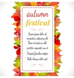 Autumn festival on white vector image