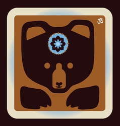 Bear icon vector