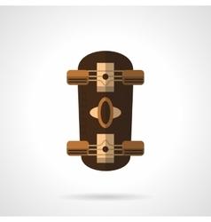 Brown longboard flat color icon vector image