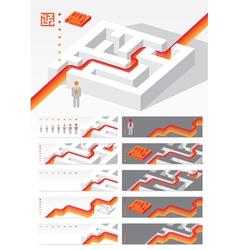 Business concept Maze vector image