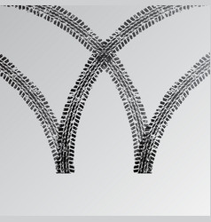 Car tire track silhouette vector