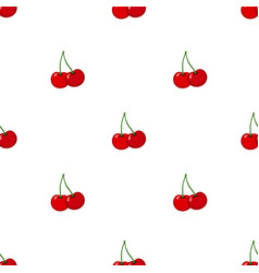 cherry seamless pattern ripe sweet tasty berries vector image vector image