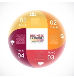Circle infographic square diagram cycle vector